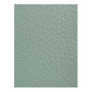 Final de cuero gris verdoso de la mirada postal