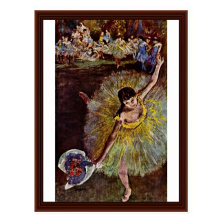 Final del Arabesque de Edgar Degas Postal