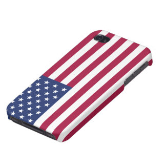 Final mate del iPhone 4 listos de la bandera ameri iPhone 4/4S Funda