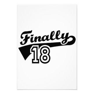 Finalmente 18 años de cumpleaños anuncios personalizados