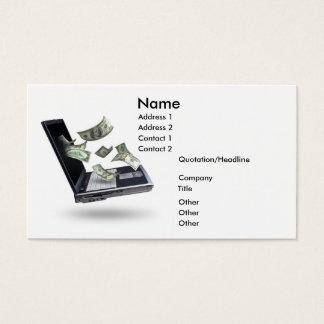 Finanzas, dinero tarjeta de negocios