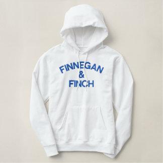 Finnegan y blanco y azul de la sudadera con