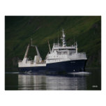 Fiordo ártico, colector/procesador en Bay de capit Impresiones