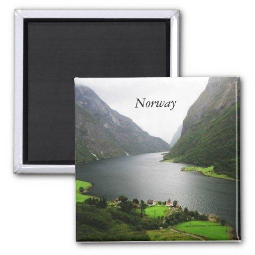 Fiordo de Noruega Imán Para Frigorifico