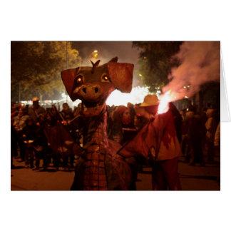 Fire Dragon - Catalan Monster Felicitaciones