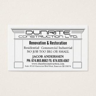 Fireplace Mantle Construction Reno Company Tarjeta De Negocios