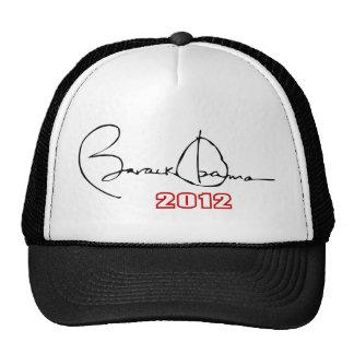 firma 2012 de obama gorro