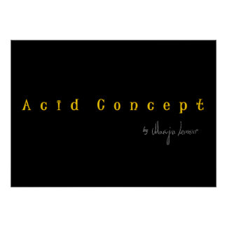 Firma Acid Concept Poster