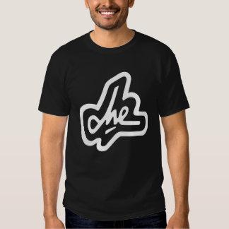 Firma de Che Guevara en negro Camisetas