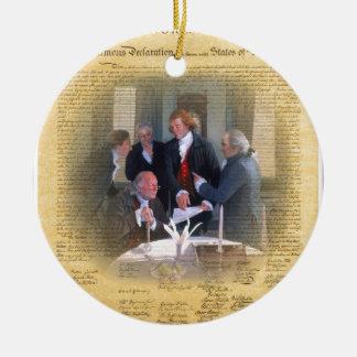 Firma de la Declaración de Independencia Adorno De Navidad