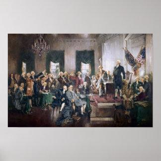 Firma de la impresión de la constitución de los E.