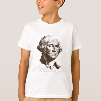 Firma George Washington Camiseta