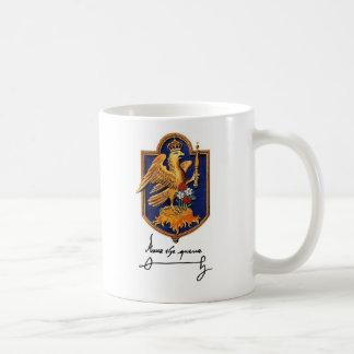 Firma y escudo de armas de Ana Bolena Taza De Café