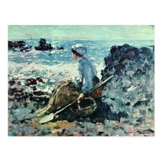 Fisherwoman de Granville de Grigorescu Nicolae Tarjetas Postales
