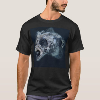 FishSkull-T-final-Negro Camiseta
