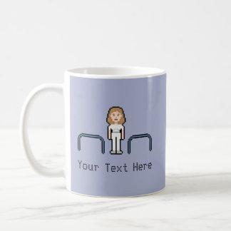 Fisioterapeuta de la hembra del personalizado 8bit taza de café