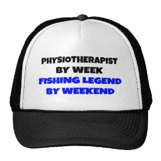 Fisioterapeuta de la leyenda de la pesca gorro de camionero