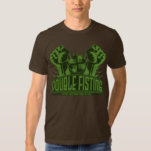 Fisting doble - estilo irlandés camisetas