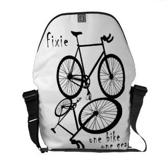 Fixie - la una bolsa de mensajero del engranaje de bolsa de mensajería