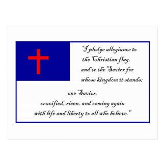 Fkag cristiano y compromiso a la bandera cristiana postal