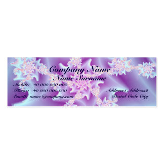 Flaco espiral coralino tarjetas de visita mini