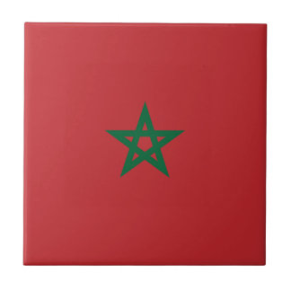 Flag_of_Morocco Azulejo Cuadrado Pequeño