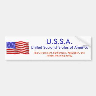 flagwave1, U.S.S.A., unió estados socialistas de… Pegatina Para Coche