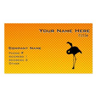 Flamenco amarillo-naranja tarjetas de visita