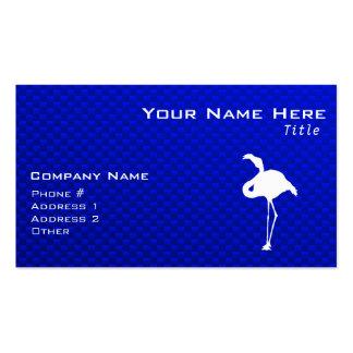 Flamenco azul tarjetas de visita