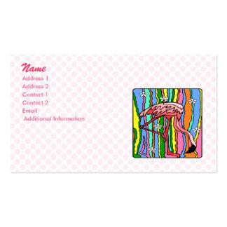 Flamenco del flower power tarjetas de visita