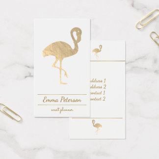 flamenco del oro en blanco tarjeta de visita