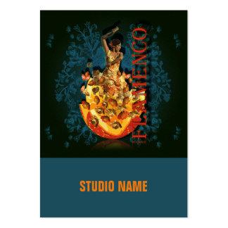 Flamenco II - Negocio, tarjeta del horario Tarjetas De Visita Grandes