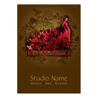Flamenco - negocio, tarjeta del horario, grande tarjeta de negocio