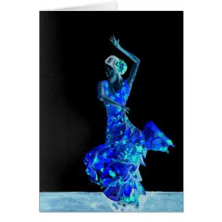 Flamenco oscuro tarjeta de felicitación