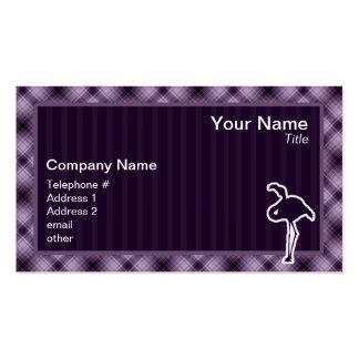 Flamenco púrpura tarjeta de visita