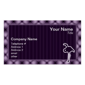 Flamenco púrpura tarjetas de visita