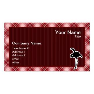 Flamenco rojo de la tela escocesa tarjetas de visita