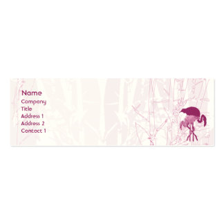 Flamenco rojo - flaco tarjetas de negocios