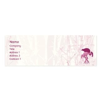 Flamenco rojo - flaco tarjetas de visita mini
