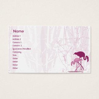 Flamenco rojo - negocio tarjeta de negocios