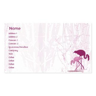 Flamenco rojo - negocio tarjetas de visita