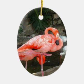 Flamenco rosado adorno de cerámica