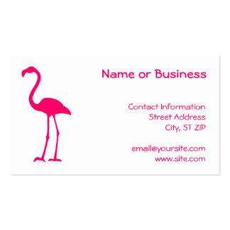 Flamenco rosado brillante plantillas de tarjetas personales