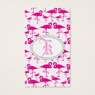 Flamenco rosado rosado tarjeta de negocios