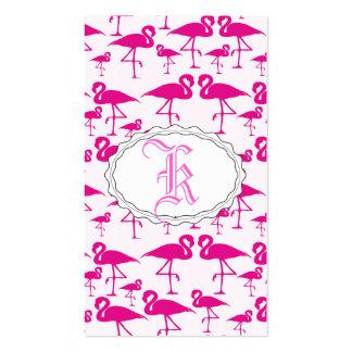 Flamenco rosado rosado tarjetas de visita