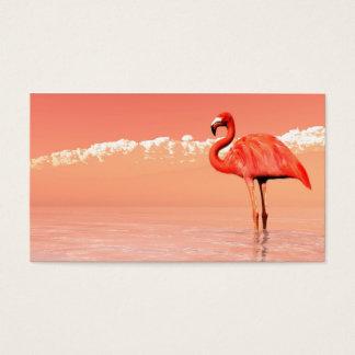 Flamenco rosado tarjeta de negocios