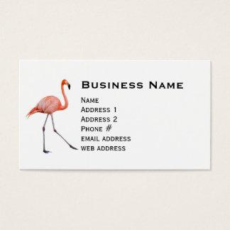 Flamenco rosado tarjeta de visita
