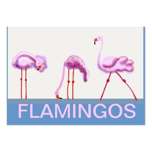Flamenco rosado plantillas de tarjeta de negocio