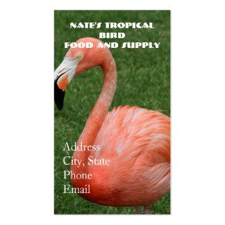 Flamenco rosado tarjetas de negocios