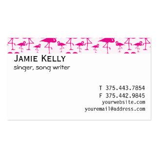 Flamenco rosado tropical rosado tarjetas de visita